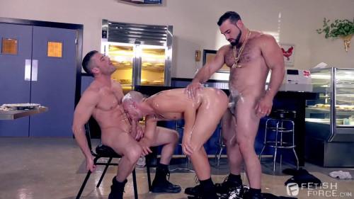 Domination Diner, Scene 03: Jaxton Wheeler, Lance Hart, Eli Hunter