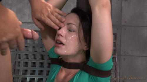 Sexy Sarah Shevon belted down and throatboarded BDSM