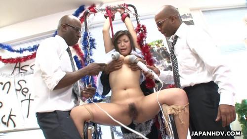 Nami himemura acquires her cum-hole stimulated by dark fellows