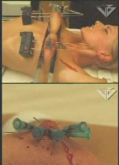 Extreme retro BDSM with hell electrodes