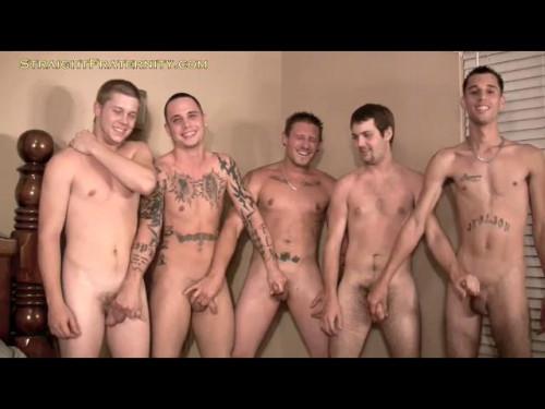 Straight Fraternity - 5 Man Cum Fest Gay Extreme