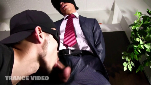 Blindfolded and hands fastened