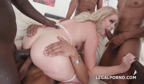 Interracial Gangbang For Sexy Slut Lisey Sweet With DP Interracial Sex