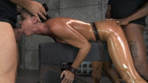 SexuallyBroken  Fit India Summer shackled down and used hard