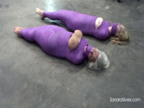 SandraSilvers - Two Mummified MILFs with bare Bare Feet and Breasts