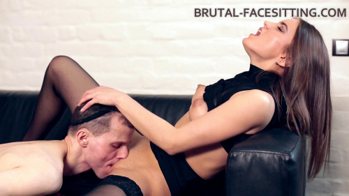 Brutal Facesitting - Evelina Darling - Full HD 1080p Femdom and Strapon