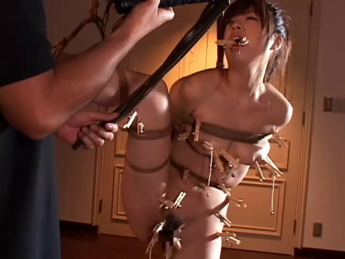 Home made hard tied Asians BDSM