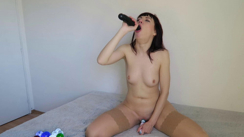 Deepthroat training gagging and anal fisting