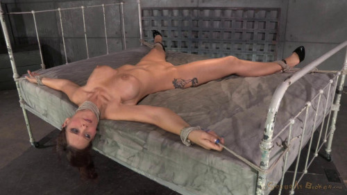Syren De Mer tied down and fucked hard without by mercy by two cocks, brutal blowjob! (2014)