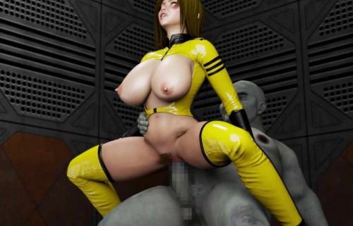 Female Crew of Space Slave 3D Porno