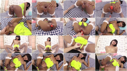 LadyBoyGold Modnoy Extreme Gape and Pushed in Creampie SheMale