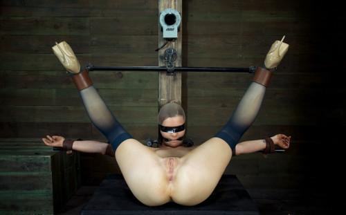 Cute girl next door, is put in the Insex mask