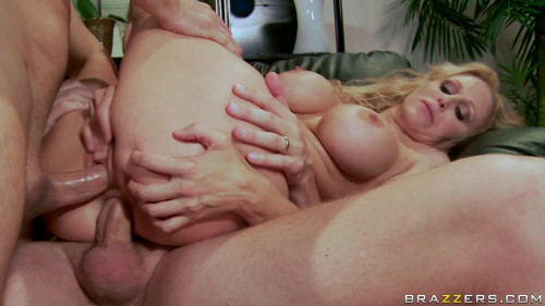 Busty Blonde Milf Fuck Them Both In The Apartment Threesome