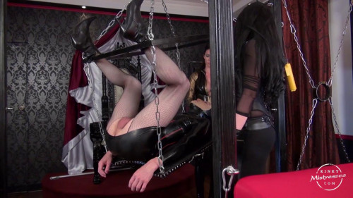 KinkyMistresses - The TV Bitch Has to Take Our Strap-on Femdom and Strapon