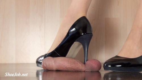 Pierces And Crushes Cock And Balls Femdom and Strapon