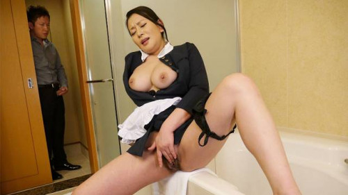 Naughty maid rei kitajima caught masturbating