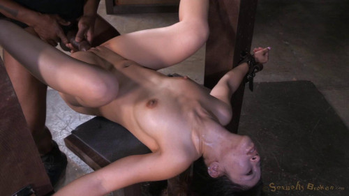 Tiny Asian Asia Zo in her 1st bondage shoot epic deepthroat squirting orgasms! (2015)