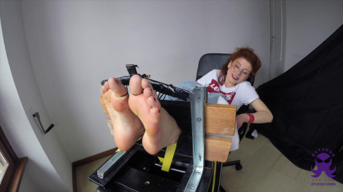 Feet in the Stocks - First Time Giulia - Full HD 1080p