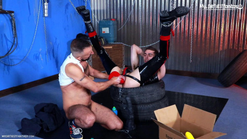 Fisted Rubber Gimp Part 1 Gay BDSM
