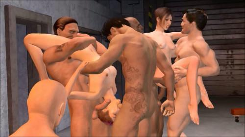 garage gang 3D Porno