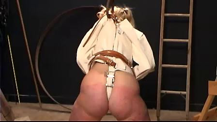 Slave Fyre Straight Jacket Whipping