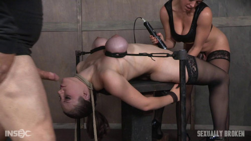 Bound As She Is and Made to Cum! Part 1 -rough bdsm porn