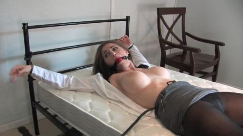 Tight restraint bondage, domination and predicament for hawt hotty