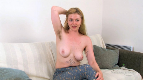 Verina Tarrant struts outside and strips inside Hairy