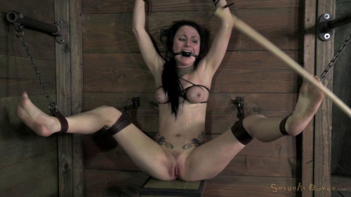Veruca James shackled & chained, facefucked hard BDSM