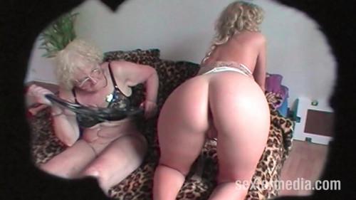 Grandma and granddaughter in natural sex Peeing