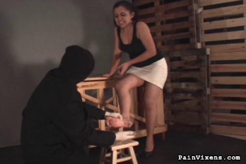Painvixens – 20 Oct 2010 – Caning and Foot Torment