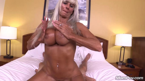 55 year old blonde stripper cougar Female Muscle