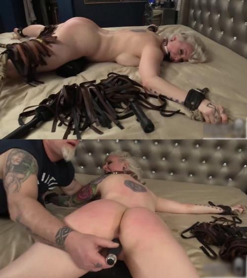 Bondage, torture, hogtie and mummification for blonde (part 3)