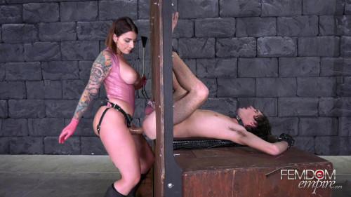Pegging Glory Hole - Mistress Ivy Lebelle - Full HD 1080p