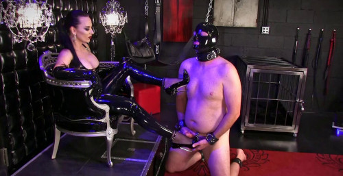 Gag On Gloves Cum On Shoes Femdom and Strapon