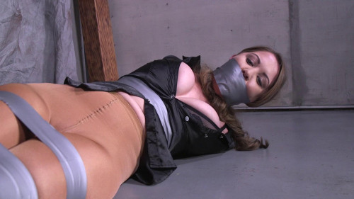 Chrissy Marie-Trying to escape got me taped up tight!