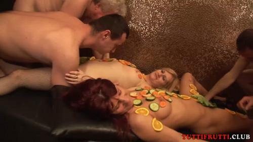 Naked Swinger Dinner Gang-Bang Orgies
