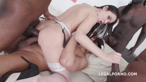 Amazing Babe Angie Moon In Hard Gangbang Interracial Sex
