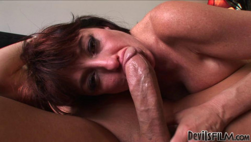 Big boob milf karen tastes huge cock in leopard dress Mature, MILF