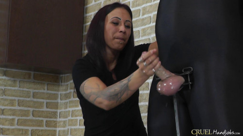 Nasty Sophie's handjob Femdom and Strapon