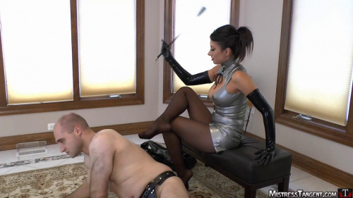 steel stiletto session Femdom and Strapon
