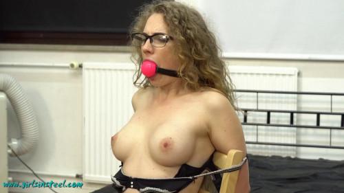 Girlsinsteel - Topless chair tie BDSM