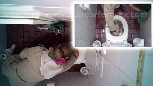 Hidden camera in the women's restroom (5 videos) Hidden camera