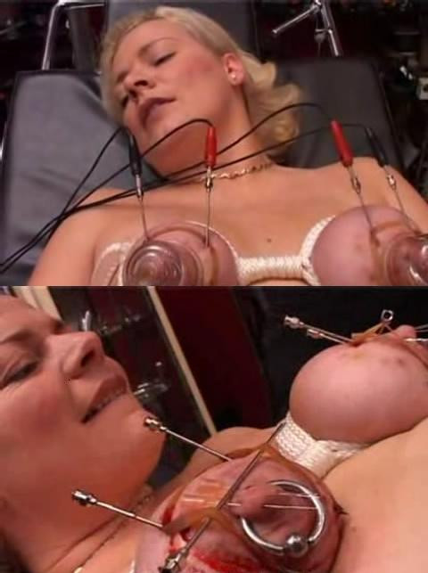 Large needles in delicate boobs