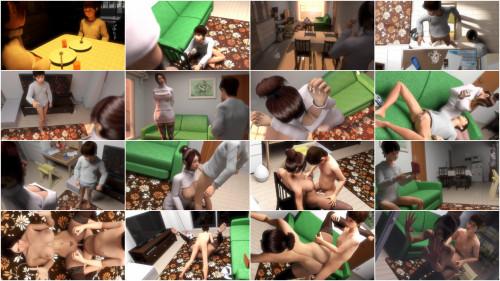 Sakura-ma and Taro-chan 3D Porno