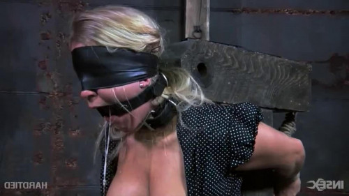 Bondage, domination and castigation for very slutty golden-haired part 1