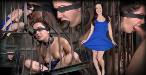 Caged In Strict Bondage And Brutal Punishing Deepthroat