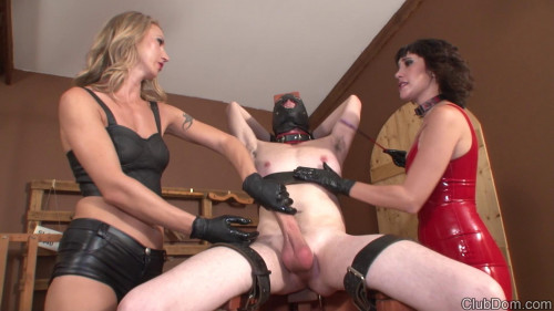 Milking Slave 666 Femdom and Strapon