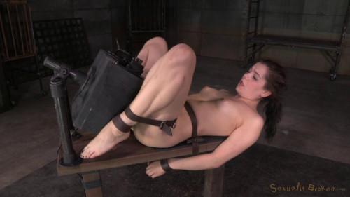 Fresh faced Kasey Warner belted sybian brutally throat big cock multiple orgasms! (2015)