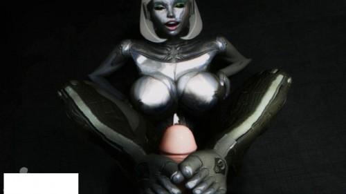 The robot girl sucks well